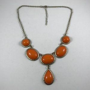 Vintage Orange Necklace, Vintage Jewelry